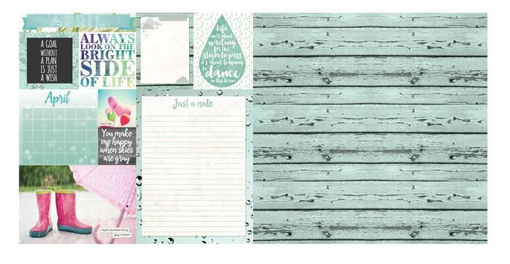 April Calendar Girl 12x12 Scrapbook Paper - 5 Sheets by Bo Bunny