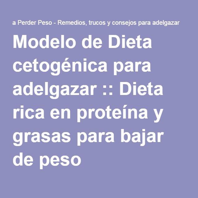Modelo de Dieta cetogénica para adelgazar :: Dieta rica en proteína y grasas para bajar de peso