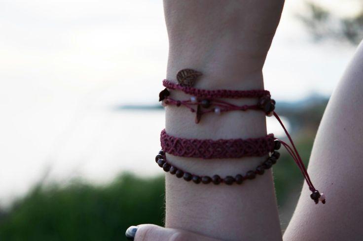 Set macrame bracelets