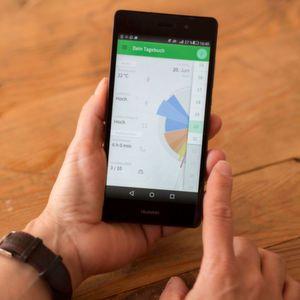Über die Tagebuch-Funktion der App M-sense können auch das Wetter und das Wohlbefinden des Migräne-Betroffenen in die Analyse mit aufgenommen werden.