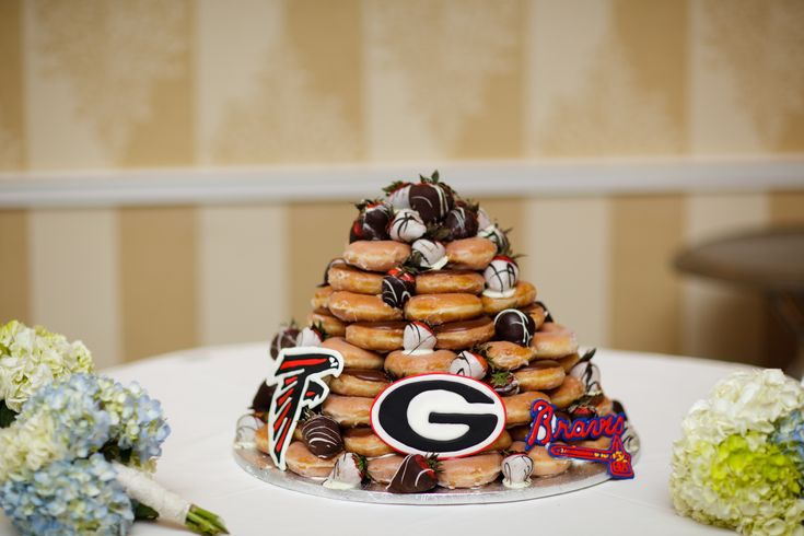 Groom S Cake Krispy Kreme Donut Tower Beth S Wedding