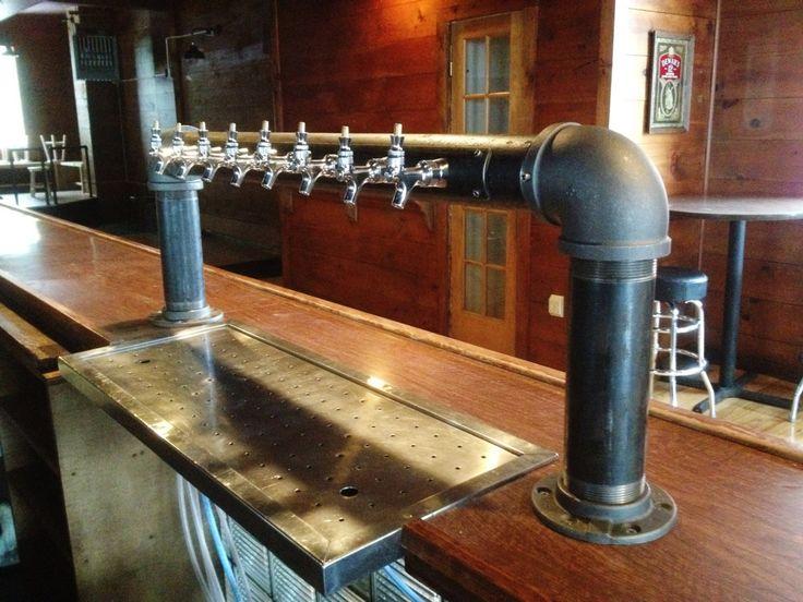 8 tap custom draft beer tower industrial iron pipe Beer