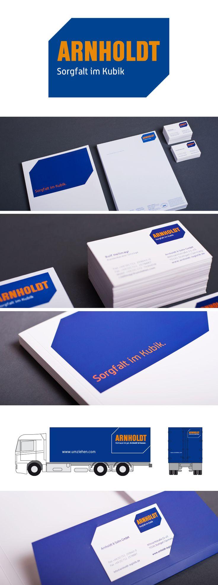 Corporate Design for the company Spedition Arnholdt in Stuttgart by JoussenKarliczek, www.j-k.de