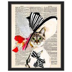 My Fair Kitty Canvas Framed, $69, now featured on Fab.