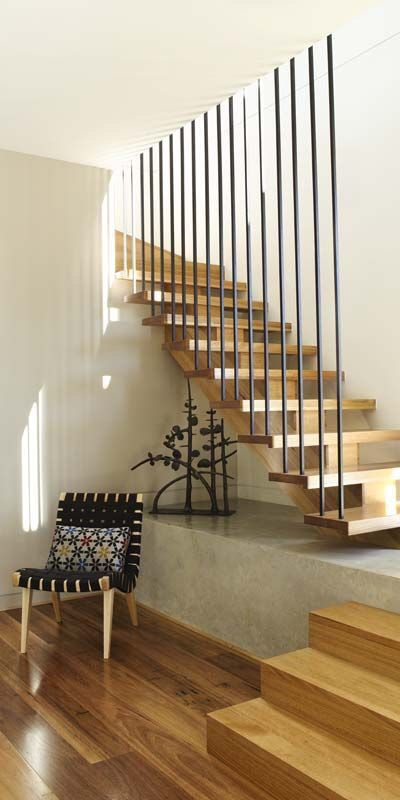 Interior | Stair | Venn Architects: Farleigh house THIS is it. The perfect (albeit slightly too chunky central stringer) stairs!!!!