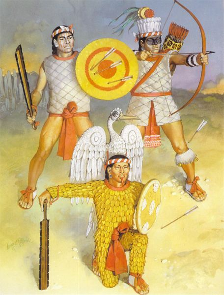 Tlaxcaltec warriors, Angus McBride