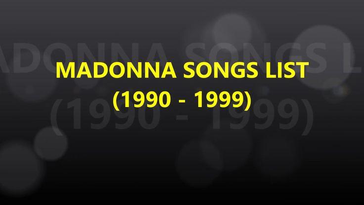 MADONNA SONGS LIST 90's (1990, 1999) | Madonna Album List | List of all Madonna Songs. #madonna #madonnafans