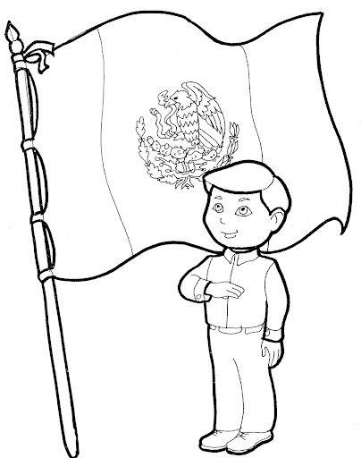 bandera de mexico para colorear sin escudo - Buscar con Google