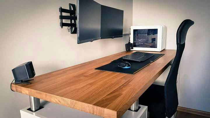 Thick Table Top Imacdesksetup Home Office Setup Home Office