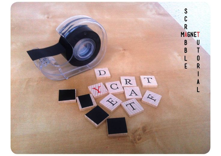 Tutorial is in Spanish, but add magnetic tape to the back of Scrabble pieces for message boards or shopping lists on a wall