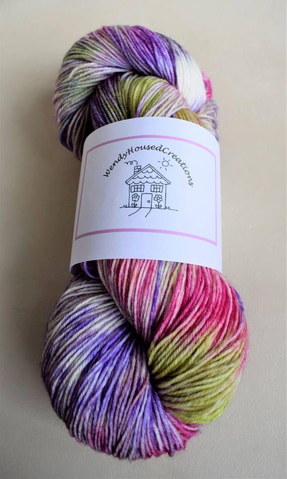 Hand dyed sock yarn superwash New Zealand Polwarth lustre SPRINGTIME - Aide Travaux Maison Ancienne