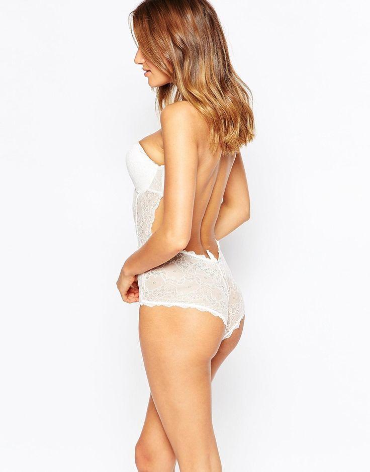 Image 2 - Fashion Forms - Body de mariée dos nu en dentelle sans bretelles