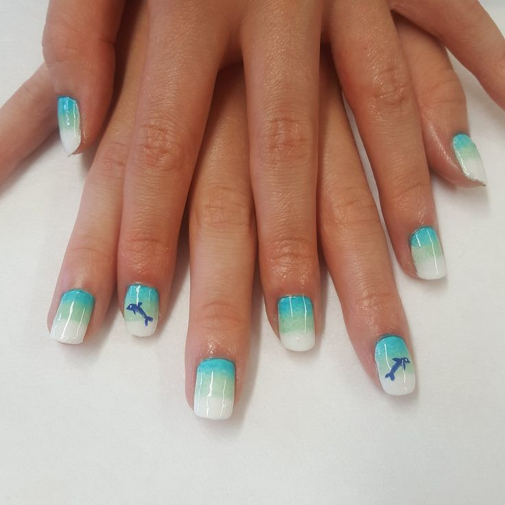 Miami dolphins nails. Beauty As... @Beautyas88 on Twitter: Child's mani-  strike a - 25+ Legjobb ötlet A Következőről: Dolphin Nails A Pinteresten