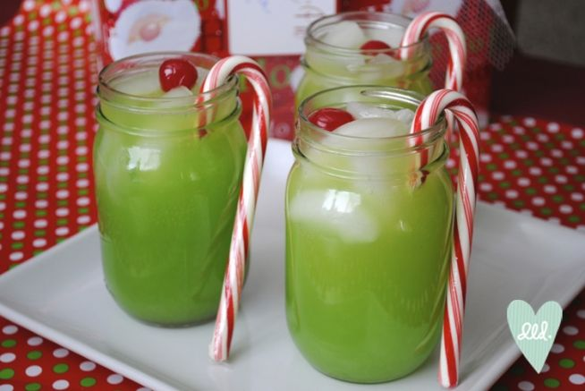 The Grinch Cocktail - this would be perfect to make for an ugly sweater party!