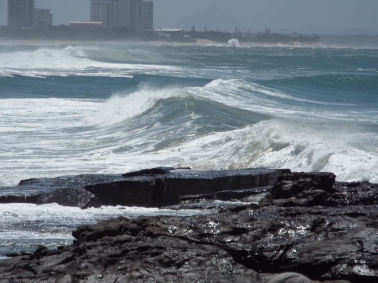 Wild beauty; the big waves accompanied by high winds made impressive sights and sounds.