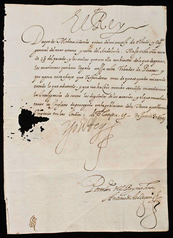 Letter dated June 11, 1609   ?Spain 17th Century 1600's   Pinterest