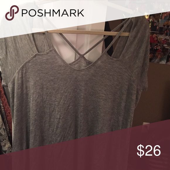 GREY strappy top GREY strappy top from Charlotte Russe! Charlotte Russe Tops Tees - Short Sleeve