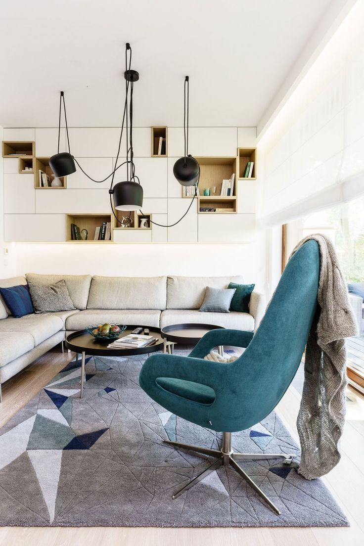 Ideas about turquoise lamp on pinterest apartment - Minimalist Apartment In Gdynia By Dragon Art