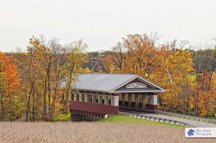 covered bridges | Mill Creek Covered Bridge, Union County, Ohio | Blue Maple Photography