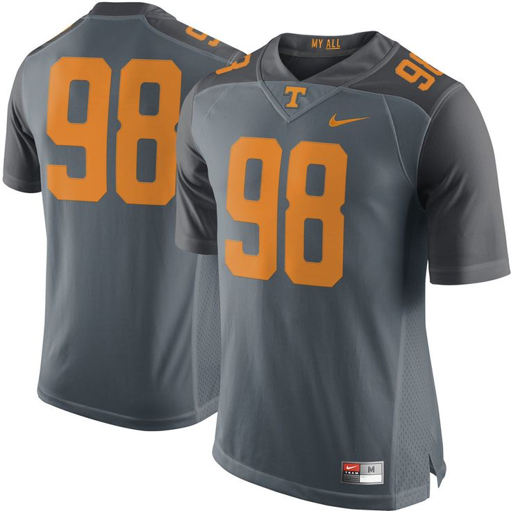 Nike #98 Tennessee Volunteers Gray Limited Jersey