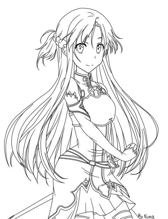 Asuna Sword Art Online Coloring Pages Sword Art Online Sword Art Online Asuna Sword Art