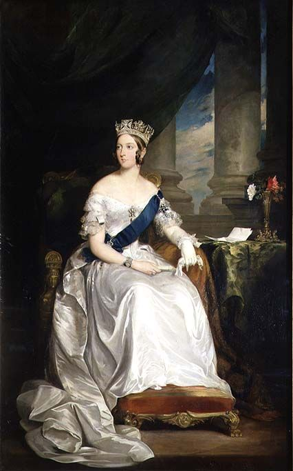Queen Victoria , 1843  by Sir Francis Grant (Scottish 1803-1878)                                                                                                                                                                                 More