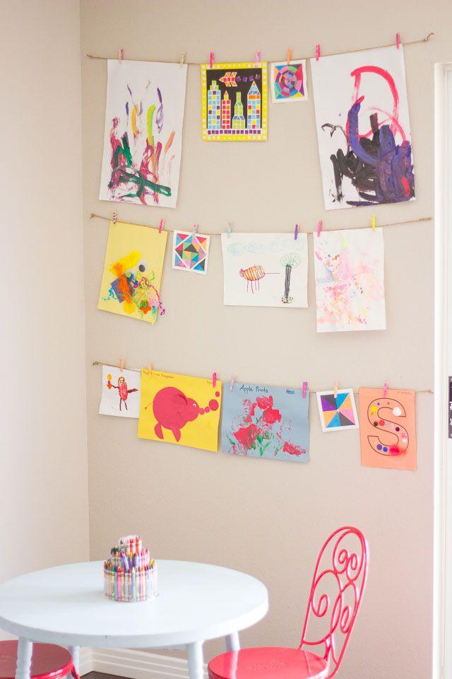 Creative Ways to Display Kids' Art