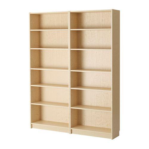 IKEA - BILLY, Bookcase, birch veneer, , Adjustable shelves; adapt space between…