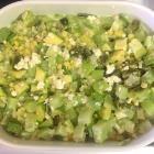 Foto de la receta: Chayotes al horno con elote, chile poblano y jamón