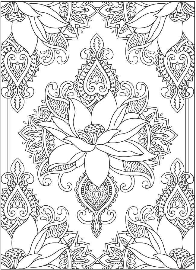 Welcome To Dover Publications Creative Haven Magnificent Mehndi Designs Coloring Book Artwork By Marty Noble