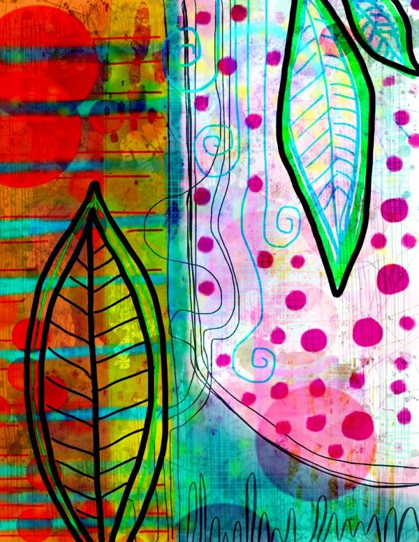 layers of art journal by Robin Mead - some digital worked in also