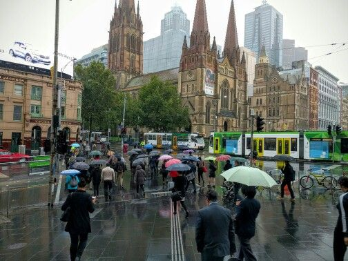 Melbourne today--- could you believe  over 30 degrees  yesterday!!!!  Winter is coming!