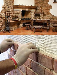 Внутренняя отделка стен декоративным камнем своими руками