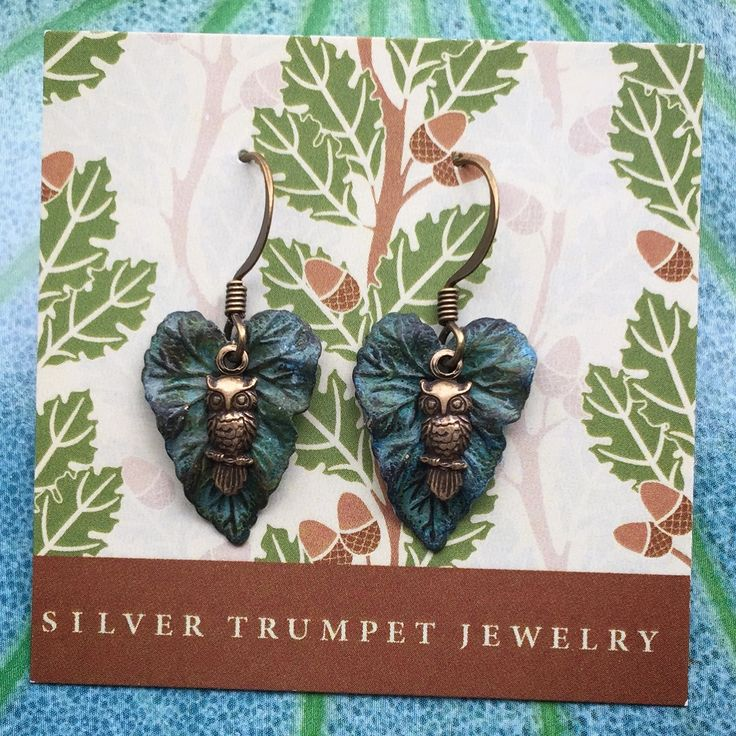 Tiny Owl Earrings by Silver Trumpet Jewelry on Etsy