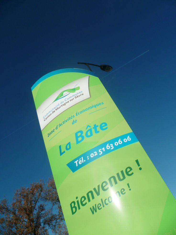 Com Com Mortagne sur sèvre (85) - Signalétique Zone d'Activité Economique #signaletique #zone #activite - DL System - www.dl-system.fr -