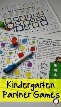 You'll save time and ink with these kindergarten math games! Each of these 20 games is just one page (no cards to print or cut!), with less than 20% color on each page. Counting and Cardinality, Operations and Algebraic Thinking, Numbers and Operations in Base Ten, and Geometry.  https://www.teacherspayteachers.com/Product/Kindergarten-Math-Partner-Games-2716415