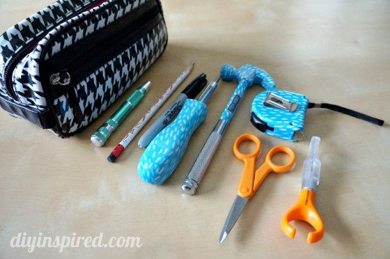 My Crafty Toolbox- a bag filled with stuff every crafty DIY girl needs.
