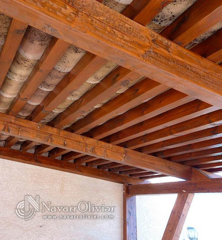 Cubierta de pérgola rústica estilo tradicional by navarrolivier.com