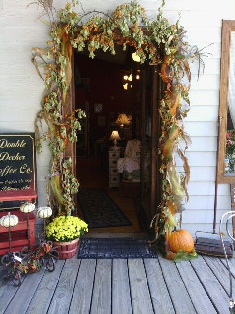 "The beautiful front door to ""Shop Around the Corner"" a fantastic antique and goods shop in the heart of the NC mountains that is owned by my second mama! If you ever visit Weaverville near Asheville NC you HAVE to stop by!! It's simply perfect!"
