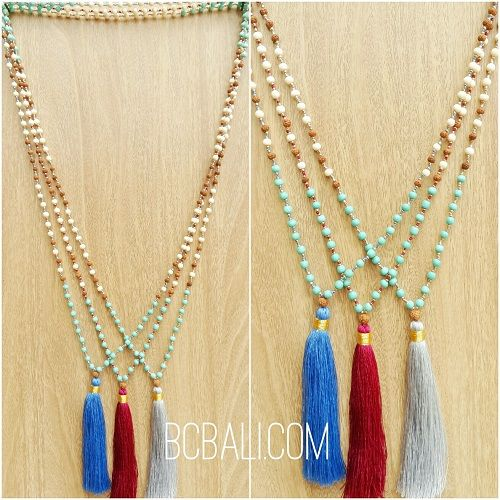 tassels necklaces beads stone rudraksha women style - tassels necklaces beads stone rudraksha women style