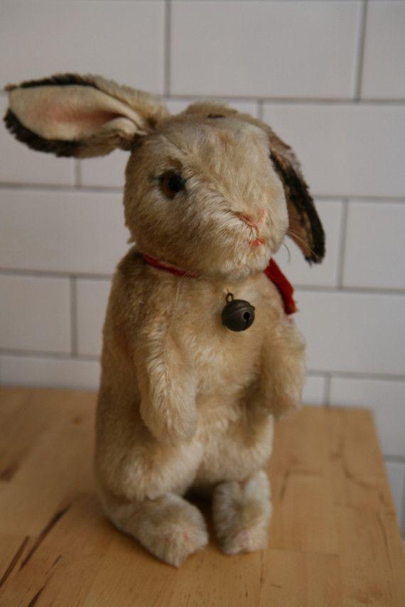 vintage stuffed rabbits | STEIFF