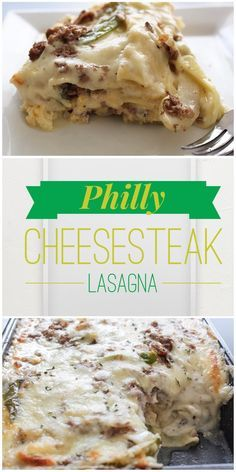 It a lot of prep and ended up tasting very much like cheesy scrambled eggs, breakfast sausage, and gravy. The search for an interesting philly cheesesteak recipes continues... Philly Cheesesteak Lasagna by PinchMeTwice.com
