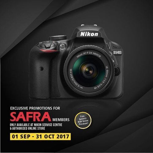 [SAFRA Members Exclusive] Looking to kickstart your photography journey but dont know where to start? Heres a special deal for you if youre a SAFRA member! - With every purchase on selected Nikon DSLRs or Coolpix P900 receive attractive suite of free gifts (including Sirui Tripod Dry Cabinet an additional battery 1 Year Extended Warranty and even Nikon School Vouchers)! - Available only at the Nikon Service Centre and Nikon Authorised Online Store (camera.com.sg). Enjoy complimentary…
