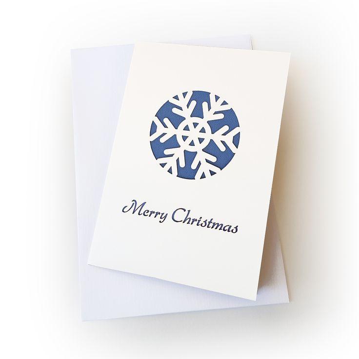 snow flake greeting card