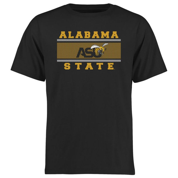 Alabama State Hornets Big & Tall Micro Mesh T-Shirt - Black