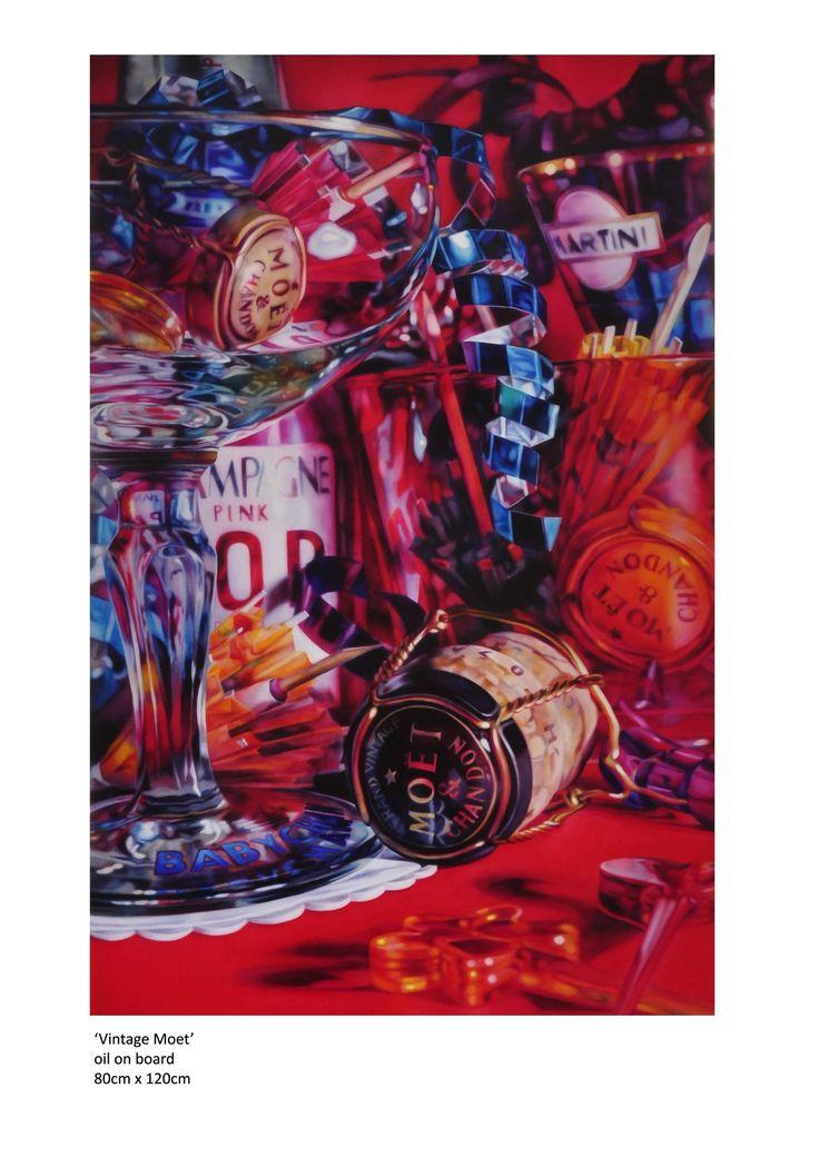 Vintage Moet (2013) by Kate Brinkworth | Medium: Oil on Canvas