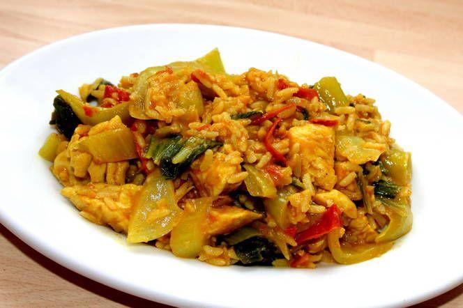 Currys csirkés egytálétel
