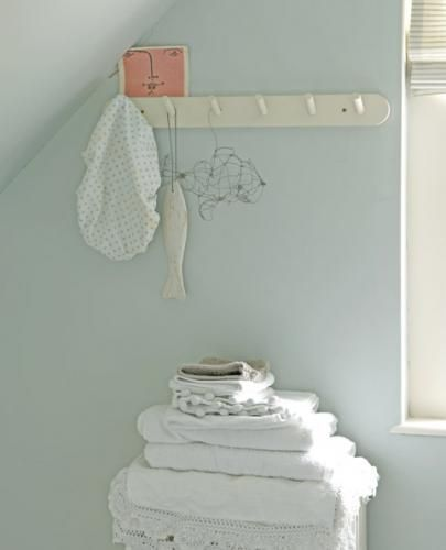 Blue is the colour - Farrow and Ball's Skylight blue, to be precise :)