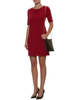 LaDress Rode jurk Twiggy met steekzakjes