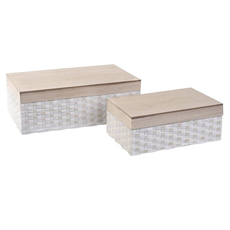 Wooden Box Set Of 2 Pieces - inart